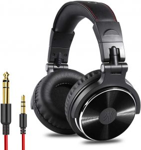 OneOdio Adapter-Free Closed Back Over-Ear DJ Stereo Monitor Headphones.