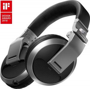 PIONEER DJ Headphones, SIlver, On Ear (HDJX5S)