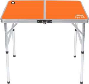 PSKOOK Folding Camping Table Picnic Table Perfect Size for Travel BBQ Beach