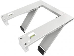 Qualward Air Conditioner Bracket Window AC Support Brackets - Heavy Duty with 2 Arms