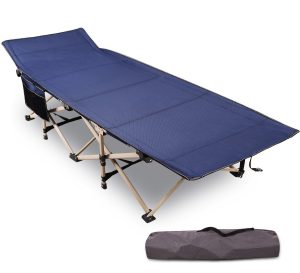 "REDCAMP Folding Camping Cots for Adults Heavy Duty | 28"" - 33"" Extra Wide Sturdy Portable Sleeping Cot for Camper"