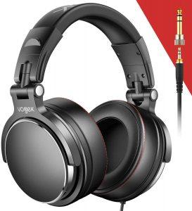 Vogek Over-Ear DJ Headphones, Prefessional Studio Monitor Mixing DJ Headset