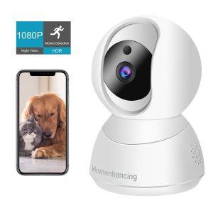 Wireless Dog Camera 1080P FHD | WiFi Pet Camera with Two Way Audio