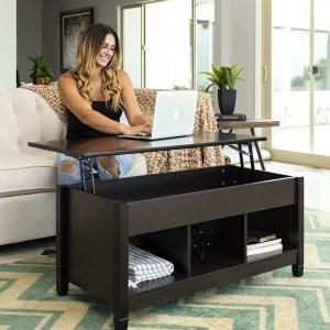 coffee table with hidden storage