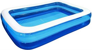 Family and Kids Inflatable Rectangular Pool | best inflatable pool for adults