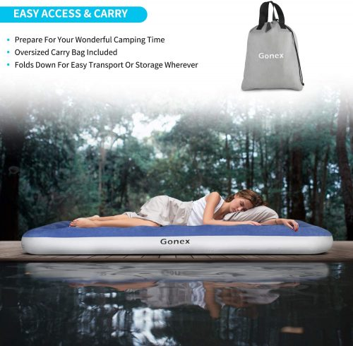 Portable Mattress with Flocked Top for Guests Camping and Hiking