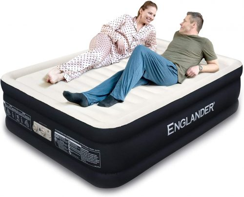 Highest End Blow Up Bed, Inflatable Air Mattresses for Guests Home Travel 5-Year Warranty
