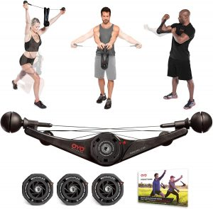 Portable Gym Equipment Set for Exercise at Home, Office or Travel - SpiraFlex Strength Training Fitness Technology