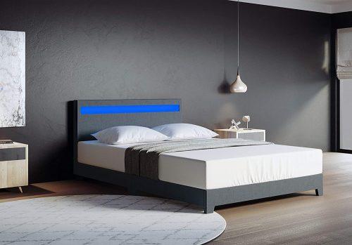 Parma Platform upholstered Bed Italian Premium Modern Platform bed king size