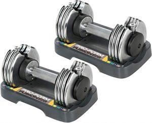 proform 25-lb. adjustable dumbbell set   25 lb adjustable dumbbell set