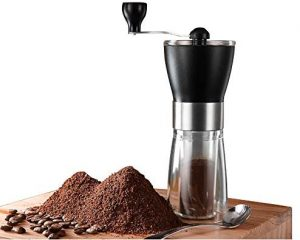 Hand Portable Bean Mill Stainless Steel Handle Adjustable Ceramic Burr Assembly for Travel