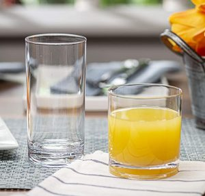 Attractive Clear Acrylic Tumblers - Unbreakable Drinkware Set Ideal for Indoor and Outdoor - Kid Friendly