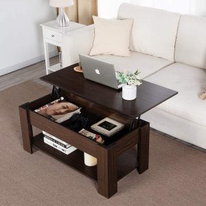coffee table with lift top and storage