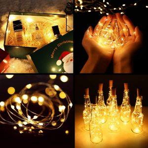 wine bottle cork lights with timer