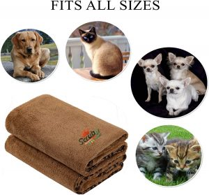 Super Absorbent and Quick Drying tower Perfect for Large, Medium, Small Dogs and Cats