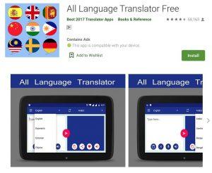 All Language Translator Free Apps