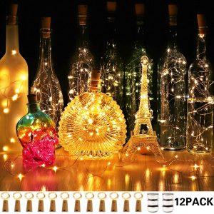 craft lights for wine bottles