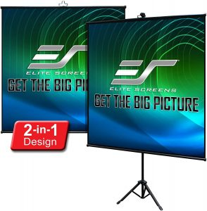 portable projector screen for camping | elite screens electric spectrum screen