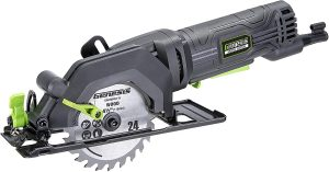 Genesis Compact Circular Saw with 24T Carbide-Tipped Blade, Rip Guide, Vacuum Adapter, and Blade Wrench