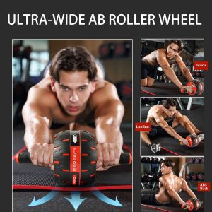 Fitness Ab Roller for Core Workouts,Home Abdominal Exercise Equipment for Both Men Women