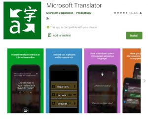 Microsoft Translation App for Android and iOS