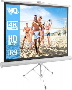 portable projector screen with stand