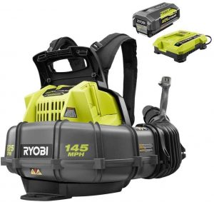 Ryobi RY40440 40 Volt 145 MPH 625 CFM Cordless Brushless Variable Speed Backpack Leaf Blower