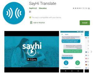 SayHi Translate Apps