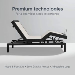 sealy ease adjustable bed base queen