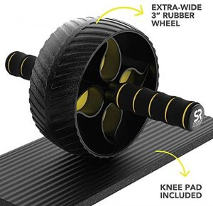 """Sturdy 3"""" Wheel for Core Workouts in The Gym or at Home"""