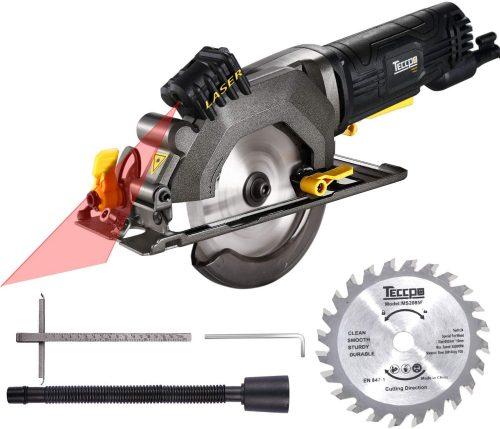 TECCPO Compact Circular Saw with Laser Guide