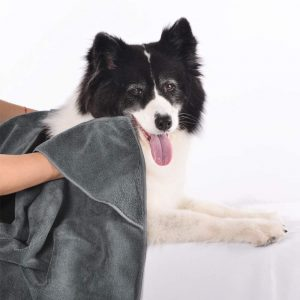 dog bath towel wrap