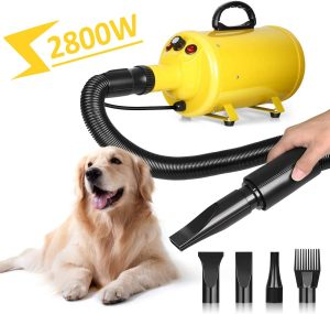 amzdeal Dog Dryer 3.8HP 2800W Stepless Adjustable Speed Dog Hair Dryer