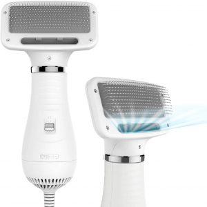 iPettie 2 in 1 Pet Grooming Hair Dryer Blower with Slicker Brush