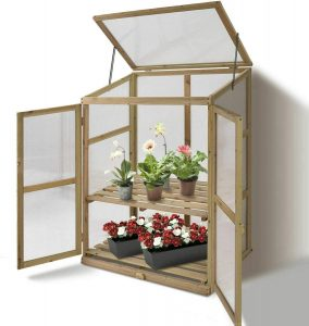 GreenHouse Cold Frame Raised Plants Shelves Protect