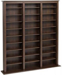 library style multimedia storage cabinet