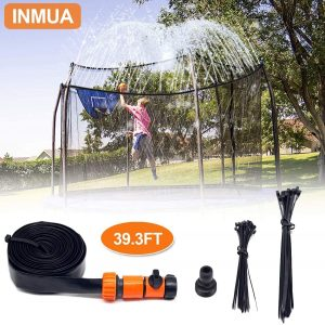 trampoline sprinkler water park set