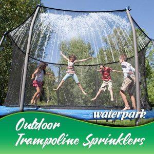 Summer Outdoor Water Game Trampoline Sprinkler