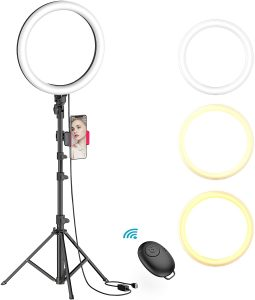 10 inches ring light with tripod stand by Erligpowht