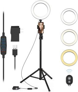 9 inches Selfie ring light with tripod stand QIAYA