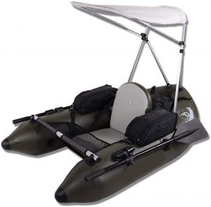 inflatable speed boat with canopy