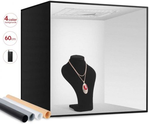 light box photography for jewelry