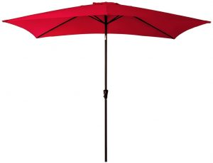 brown rectangle patio umbrella