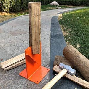 Firewood log splitter for fireplace stove