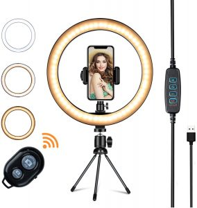 LED ring light with tripod stand by Vilsure