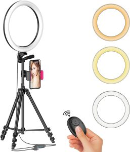 LED selfie ring light with tripod stand by Aptoyu
