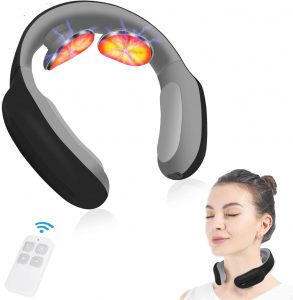 Neck massager with pulse heated