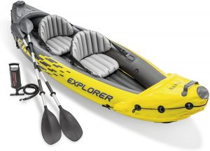 yellow 2 person inflatable kayak