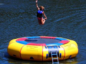inflatable trampoline water