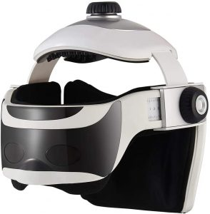 NORLANYA Electric Head Massager Helmet for Stress and Migraine Relaxing, Wireless Head and Eye Massage Sleep Instrument with Heat, Air Compression, Vibrating & Music, Rechargeable NORLANYA Electric Head Massager Helmet for Stress and Migraine Relaxing, Wireless Head and Eye Massage Sleep Instrument with Heat, Air Compression, Vibrating